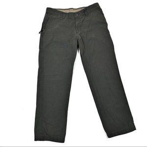 Columbia green khaki men's pants 34x30